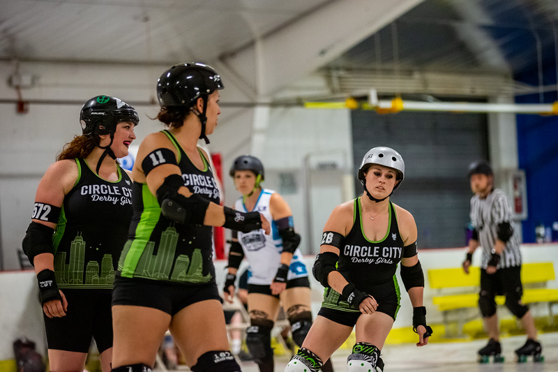 Terrorz Roller Derby vs Circle City Derby Girls at Perry Park in Indianapolis, Indiana. Photo by Tony Vasquez