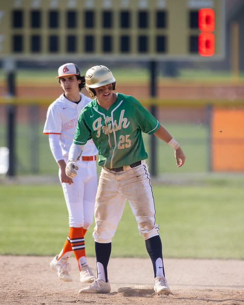 The Columbus East varsity baseball team tied their home non-conference game against Cathedral by a score of 7-7. Photo by Tony Vasquez for Indy Sports Daily April 6, 2021.