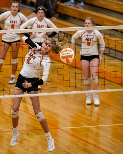 The East Olympians defeated the Bloomington South Panthers 3 sets to 1 on September 29, 2020. Photo by Tony Vasquez for Indy Sports Daily.