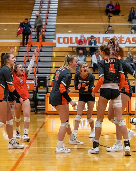 Columbus East lost to Martinsville in the 4A Sectional Champion match 3-2 on October 17, 2020. Photo by Tony Vasquez for IndySports Daily.