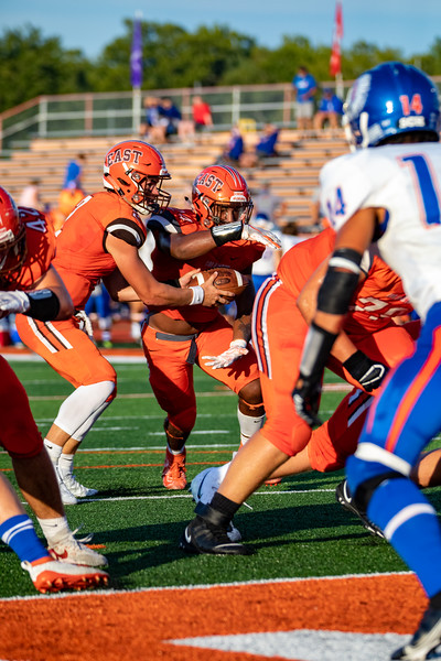 Columbus East High School vs. Whiteland in the home opener in Columbus, Indiana. Final score CEHS 21 - Whiteland 28. Photo by Tony Vasquez  for Indy Sports Daily