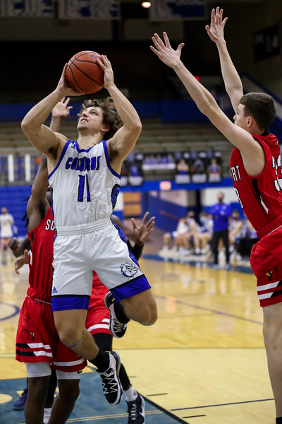 The Columbus North Bull Dogs defeated Southport 50-34 on January 29, 2021. Photo by Tony Vasquez for Indy Sports Daily.