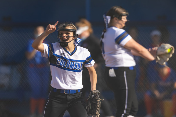 The Columbus North Bull Dogs dominated the Whiteland Warriors 13-6. Photo by Tony Vasquez on April 12, 2021 for Indy Sports Daily
