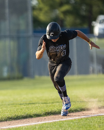 The Columbus North varsity baseball team won Thursday's home non-conference game against Center Grove (Greenwood, IN) by a score of 3-2. Photo by Tony Vasquez for Indy Sports Daily.