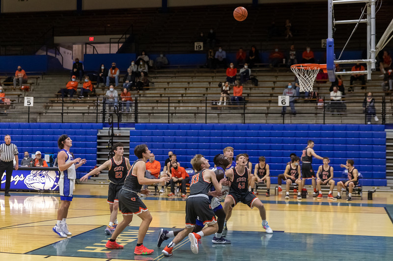 Columbus North defeats Columbus East Men's Basketball 58 to 49 on January 5, 2020. Photo by Tony Vasquez for Indy Sports Daily.