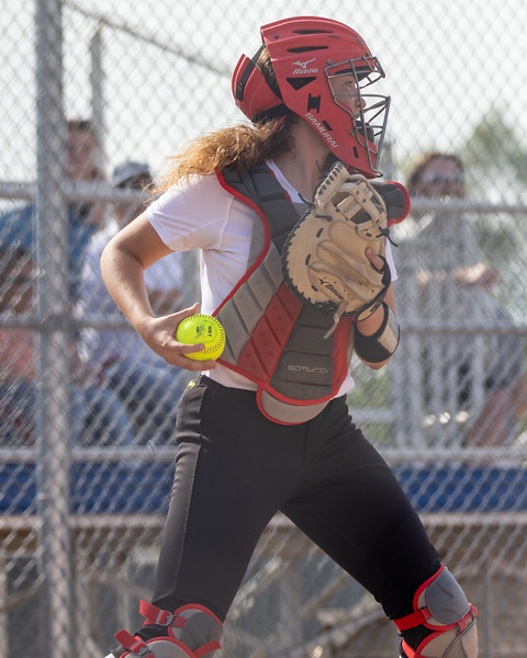 The Columbus North varsity softball team won Thursday's home non-conference game against Hauser (Hope, IN) by a score of 8-0. Photo by Tony Vasquez for Indy Sports Daily.
