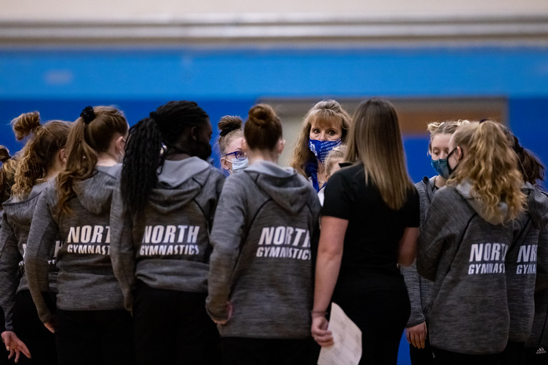 The Columbus North Bull Dogs defeated Owen Valley  107.950 to 95.875 on February 4, 2021. Photo by Tony Vasquez for Indy Sports Daily.