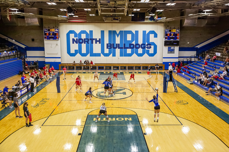 The Columbus North Bulldogs defeat the Southport Cardinals volleyball team on September 8, 2020. Final score 3-1. Photo by Tony Vasquez for Indy Sports Daily.