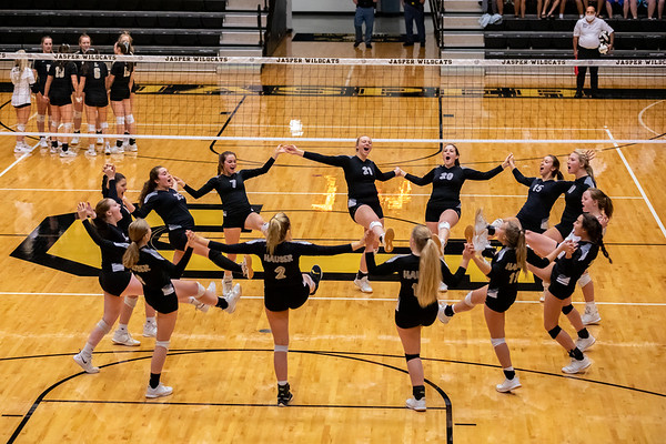 The Hauser Jets vs Loogootee Lions in Class 1A Semi-State volleyball in Jasper, Indiana. Final score the Lions 3 - Jets 0. Photo by Tony Vasquez for Indy Sports Daily.