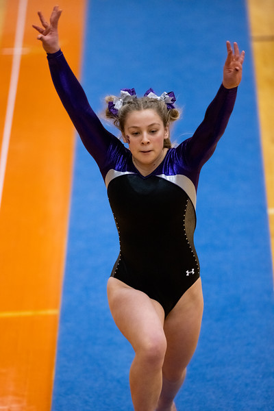 Bloomington South competing on the vault at Columbus East High School in Columbus, Indiana, Friday, February 26, 2021. Team score on vault was 26. Photo by Tony Vasquez for Indy Sports Daily.