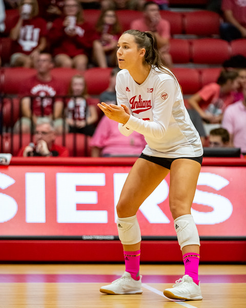 Indiana University defeats Northwestern 3 - 1 on October 5, 2019 at Wilkinson Hall in Bloomington, Indiana. Photo by Tony Vasquez for Indy Sports Daily.