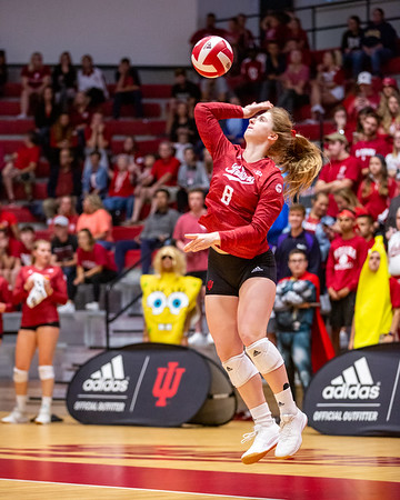 Purdue defeats Indiana University Volleyball 3-2 at Wilkinson Hall in Bloomington, Indiana on October 9, 2019. Photo by Tony Vasquez for Indy Sports Daily.