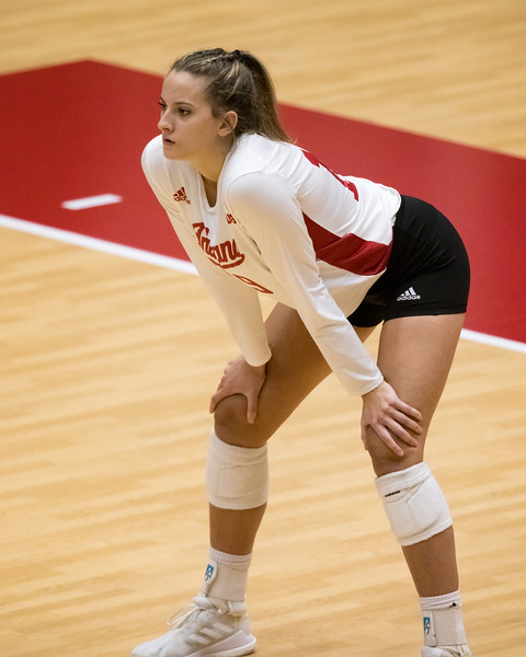 Wisconsin defeats Indiana in three straight sets on February 13, 2021. Photo by Tony Vasquez for Indy Sports Daily.