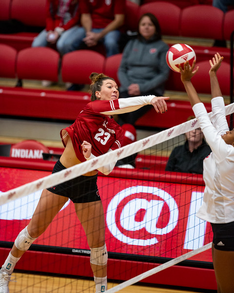 Wisconsin defeats Indiana University 3 - 0 on November 3, 2019 at Wilkinson Hall in Bloomington, Indiana. Photo by Tony Vasquez for Indy Sports Daily.