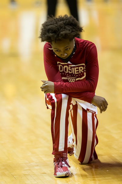 No. 14 Indiana edged out No. 11 Michigan 70-65 at Simon Skjodt Assemby Hall. Photo by Tony Vasquez for Indy Sports Daily.