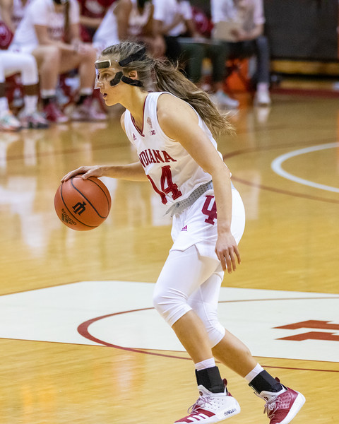 Indiana defeats Nebraska 81 -45 in Bloomington, Indiana on December 20, 2020. Photo by Tony Vasquez for Indy Sports Daily.
