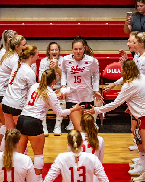 Indiana University falls to Illinois 3 - 0. October 4, 2019 at Wilkinson Hall in Bloomington, Indiana. Photo by Tony Vasquez for Indy Sports Daily.