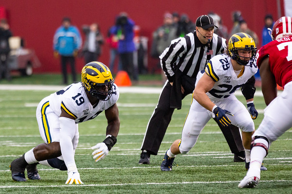 Michigan defeats Indiana Univeristy at Memorial Stadium. Final score 39-14 . Photo by Tony Vasquez for Indy Sports Daily.