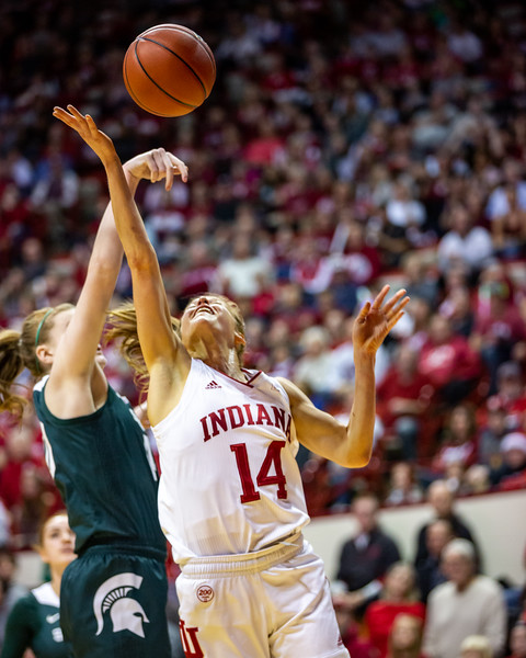 Indiana defeats Michigan State 70 to 67 at Assembly Hall in Bloomington, Indiana. Photo by Tony Vasquez for Indy Sports Daily.
