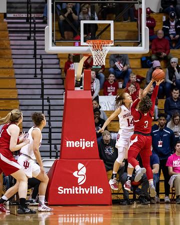 Indiana University defeats Nebraska at Assembly Hall on senior night. Final score IU 81 - NEB 53. Photo by Tony Vasquez for Indy Sports Daily.