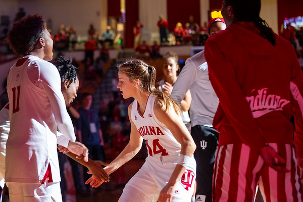 Indiana University women basketball defeats Purdue 66 to 48. Photo by Tony Vasquez for Indy Sports Daily.