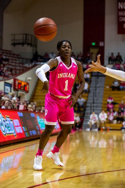 Indiana University women's basketball vs. Rutgers in Simon Skjodt Assembly Hall on February 18, 2019. Photo by Tony Vasquez.