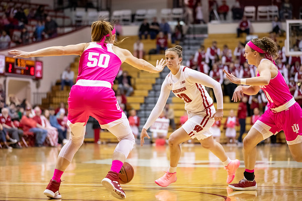 Indiana comes from behind to force overtime and a win over Wisconsin 75 to 65 at Assembly Hall in Bloomington, Indiana. Photo by Tony Vasquez for Indy Sports Daily.