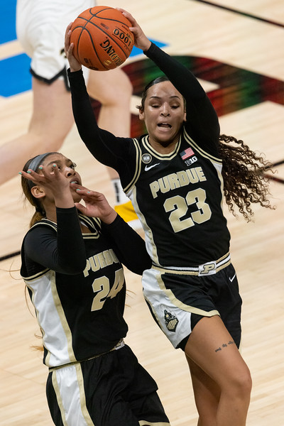 Iowa defeats Purdue in the Women's Big Ten Tournament on March 10, 2021, by the final score of 83 - 72. Photo by Tony Vasquez for Indy Sports Daily.