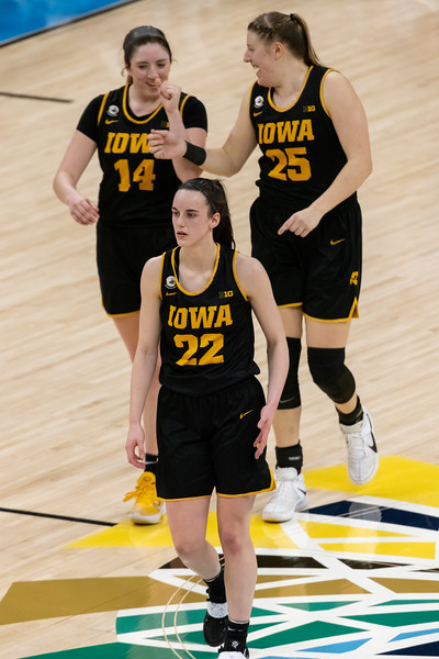 Iowa defeats Rutgers in the Women's Big Ten Tournament on March 11, 2021, by the final score of 73 - 62. Photo by Tony Vasquez for Indy Sports Daily.