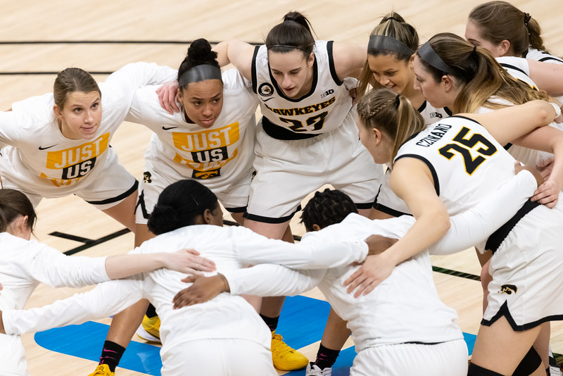 Iowa defeats Michigan State in the Women's Big Ten Tournament on March 12, 2021, by the final score of 87 - 72. Photo by Tony Vasquez for Indy Sports Daily.