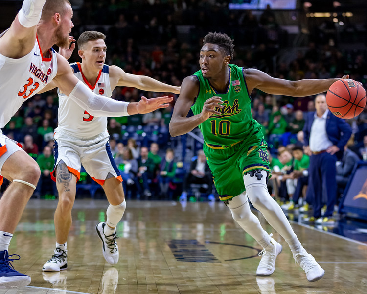 Norte Dame Fighting Irish versus Virginia Cavaliers at the Joyce Center in South Bend, Indiana on January 26, 2019. Photo by Tony Vasquez for Indy Sports Daily.