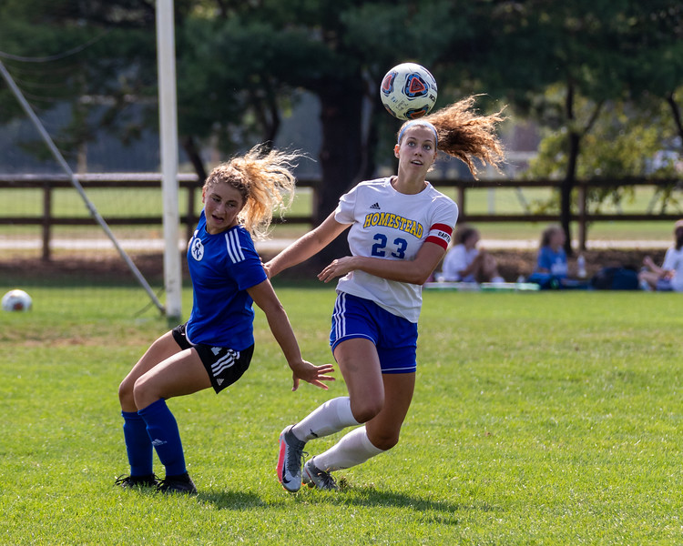 The Columbus North Bulldogs soccer team defeated the Homestead Spartans on September 12, 2020. Final score 2-0. Photo by Tony Vasquez for Indy Sports Daily.