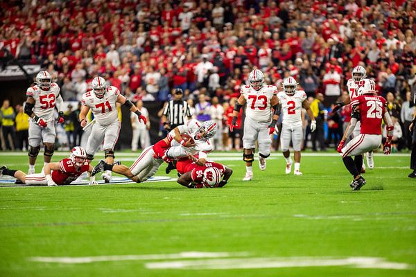 Ohio State wins the Big Ten Championship game at Lucas Oil Stadium in Indianapolis, IN by defeating Wisconsin 34- 21. Photo by Tony Vasquez for Indy Sports Daily.