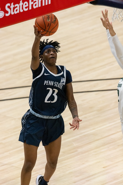 Michigan State defeats Penn State in the Women's Big Ten Tournament on March 10, 2021, by the final score of 75 - 66. Photo by Tony Vasquez for Indy Sports Daily.