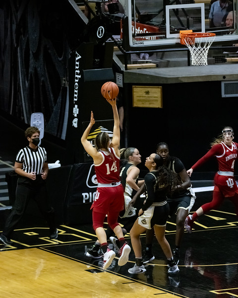 No. 18 Indiana women's basketball defeats Purdue 66-45. Photo by Tony Vasquez for Indy Sports Daily..