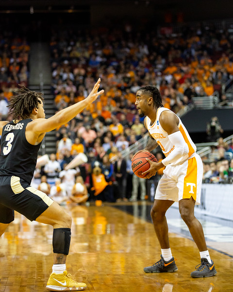 2019 NCAA Men's Basketbal South Regional Purdue vs Tennessee at the KFC Yum! Center in Louisville, Kentucky. Final score Purdue 99 - Tennessee 94 in OT. Photo by Tony Vasquez for Indy Sports Daily.