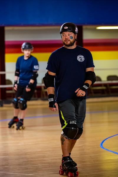 Terrorz Roller Derby vs Columbus  Fireman Department. Photo by Tony Vasquez