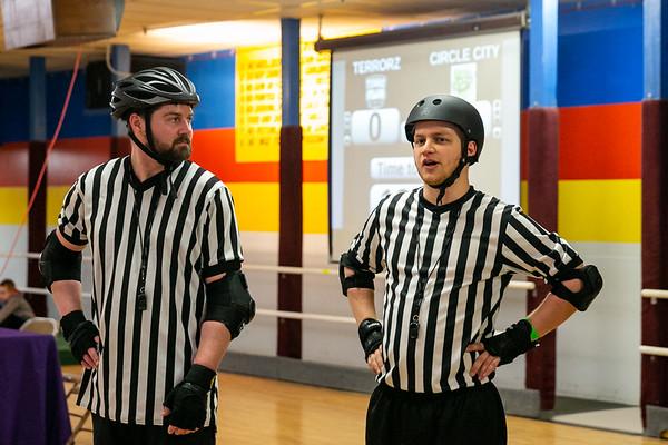 Terrorz Roller Derby vs Circle City Derby Girls at Columbus Skateland on March 30, 2019. Photo by Tony Vasquez.