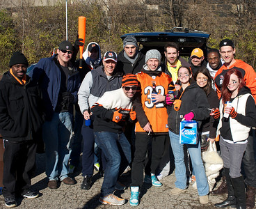 The Honeymoon Gang from England at Longworth hall tailgating before the Bengals game