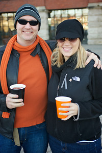 Craig Schwartz and Kathleen Kennedy at Longworth hall tailgating before the Bengals game
