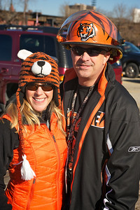Peggy and Daniel Vanderman of Lawrenceburg, IN at Longworth hall tailgating before the Bengals game
