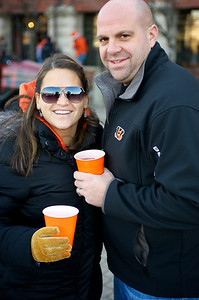 Lisa and Rob Brockman  at Longworth hall tailgating before the Bengals game