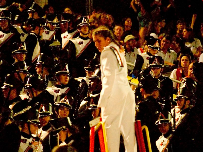 Drum Major and band