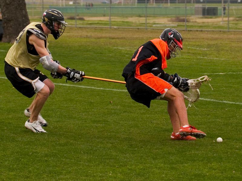 Pearson Suniga, attack, retrieves ground ball.