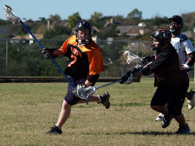 Michael Becherer tries to get past Anthony Gallardo (Midfield, Westwood Class of 2004)