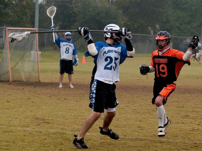 Evan Alexander goes for the big stick.