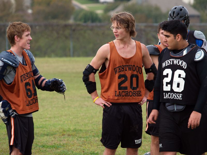 George Lattimore entertaining team-mates Brendan Murphy and Mahyar Azadi.