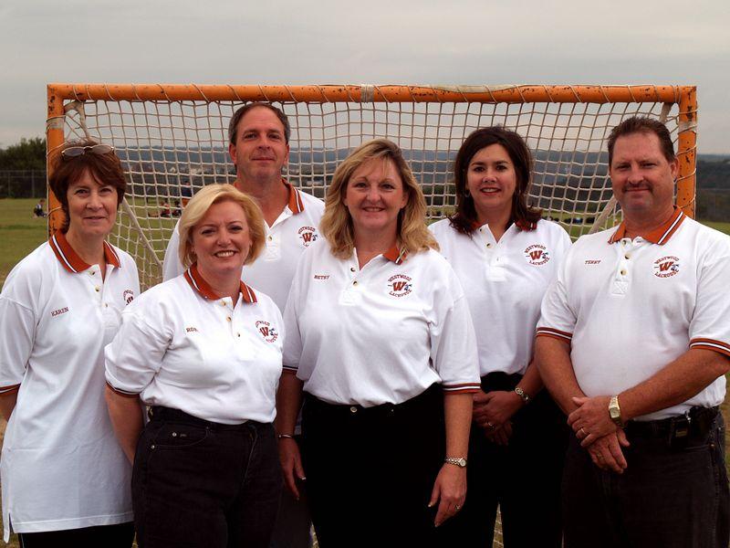 Westwood Lacrosse Board of Directors (from left:  Karen Boyd, Secretary;  Robin Hanna, member-at-large; LJ Falloon, Vice President;  Betsy Horton, President; Denise Suniga, Treasurer; Terry Brown, Parliamentarian)