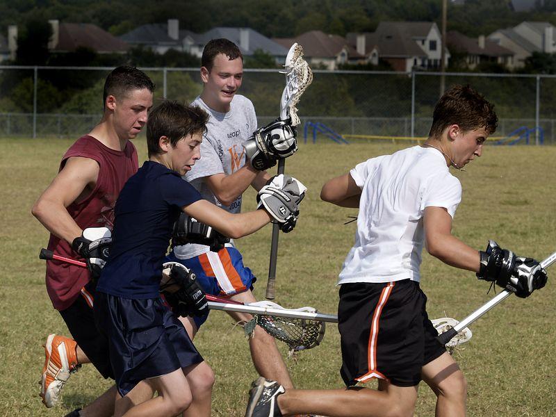 Lacrosse Practice, Westwood 2004.