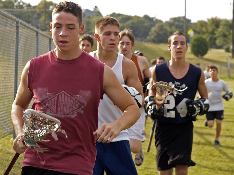 Trevor, Jamie & Evan, Lacrosse Practice, Westwood 2004.
